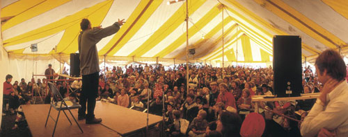Jay O'Callahan professional storyteller at the National Storytelling Festival