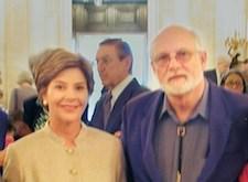 Jimmy Neil Smith - President of the International Storytelling Center meeting with Barbra Bush.