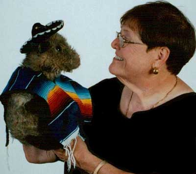 Storyteller Mary Jo Huff with her puppet during a performance.
