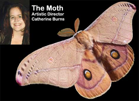 A representation of The Moth storytelling powerhouse of NYC and LA appearing on the Art of Storytelling with Brother Wolf.