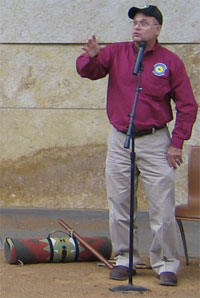 Tim Tingle Choctaw Nation storyteller at the Smithsonian